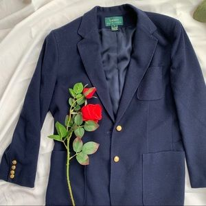 Ralph Lauren Wool blue jacket blazer coat